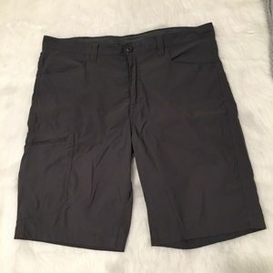 Eddie Bauer Gray Hiking Active Cargo Shorts